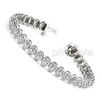 1.00CT Diamonds Tennis Bracelet In 14KT White Gold