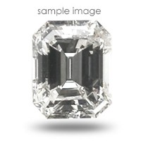 0.75CT Emerald Cut H/SI2 Loose Diamond