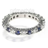 1.80CT Princess Cut Diamonds Eternity Band