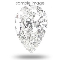 0.59CT Pear Cut I/VVS2 Loose Diamond