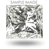 0.46CT Princess Cut H/SI1 Loose Diamond