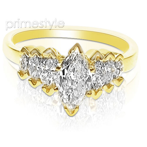 1.80CT Marquise Cut Diamonds Engagement Ring