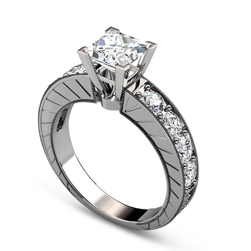 1.85CT Round Cut Diamonds Engagement Ring