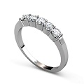 0.80CT Round Cut Diamond Wedding Band