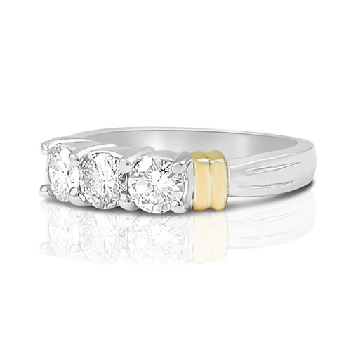 Round Cut 0.70CT Diamond Wedding Band