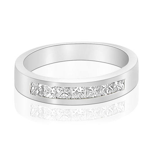 0.80CT Princess Cut Wedding Band