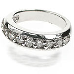 1.30CT Round Cut Diamond Wedding Band