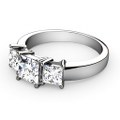 1.20CT Princess Cut Diamonds Three Stone Ring