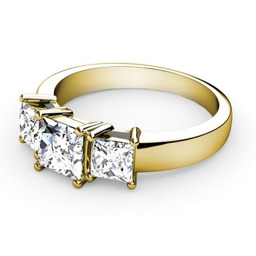 ... Rings  Three Stone Rings  0.90CT Princess Cut Diamonds Three Stone