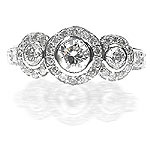 1.80CT Round Cut Diamonds Three Stone Ring
