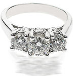 1.30CT Round Cut Diamonds Three Stone Ring