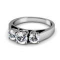 0.90CT Round Cut Diamonds Three Stone Ring