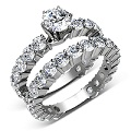 6.10CT Round Cut Diamonds Bridal Set