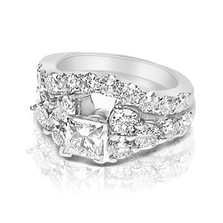 Bridal Set � 3.55CT Princess and Round Cut Diamonds
