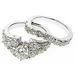 3.35CT Round Cut Diamonds Bridal Set