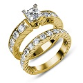 princess and round Cut Diamonds � 1.90CT Total Weight Bridal Set