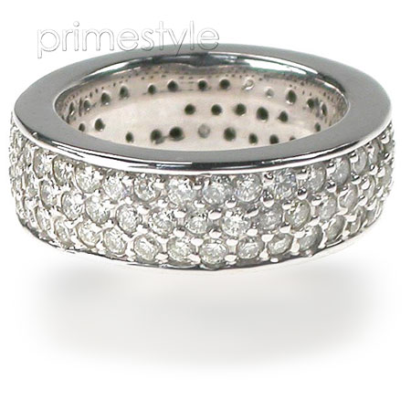 2.20CT Round Cut Diamonds Eternity Band