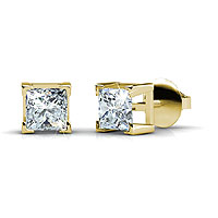 Diamond Stud Earring Featuring 3.00CT Total In 14KT Yellow Gold Setting