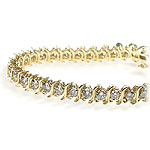 0.60CT Round Cut Diamond Tennis Bracelet