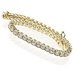 2.00CT Round Cut 14KT Yellow Gold Diamonds Tennis Bracelet
