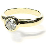0.70CT Round Cut Diamond Solitaire Ring