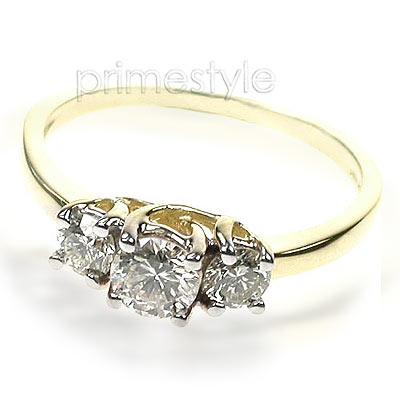 0.50CT Round Cut Diamonds Three Stone Ring