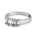 1.10CT Emerald Cut Diamonds Three Stone Ring