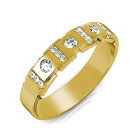 1.40CT Round Cut Diamonds Men's Wedding Band