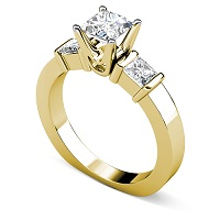 1.30CT Princess Cut Diamonds Engagement Ring