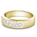 1.00CT Princess Cut Diamond Men's Wedding Band
