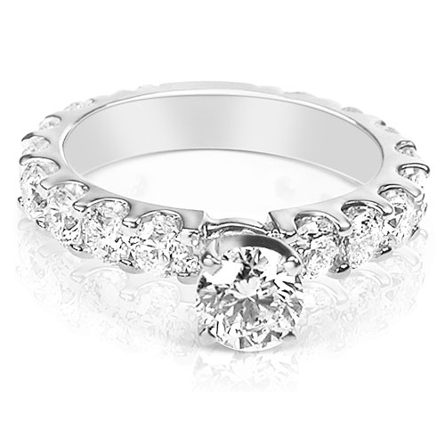 2.60CT Round Cut Diamonds Engagement Ring