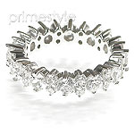 3.60CT Round Cut Diamonds Eternity Band