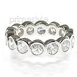 3.10CT Round Cut Diamonds Eternity Band
