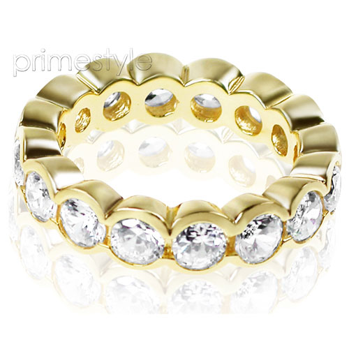 4.00CT Round Cut Diamonds Eternity Band