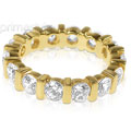 3.00CT Round Cut Diamonds Eternity Band