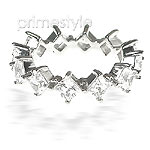 4.20CT Princess Cut Diamonds Eternity Band