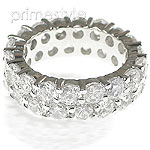 7.20CT Round Cut Diamonds Eternity Band