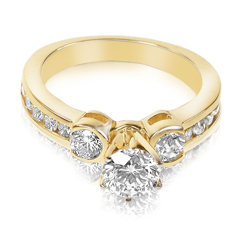 1.20CT Round Cut Diamonds Engagement Ring for $865.99 in yellow gold
