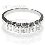 1.00CT Princess Cut Diamonds Wedding Band