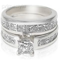 Stunning Diamond Bridal Set � 3.20CT Total Weight with Princess Cut Diamonds