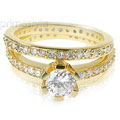 Incredible Diamond Bridal Set with Over 100 Round Cut Diamonds and 2.00CT Weight