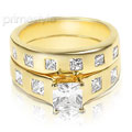 Elegant 1.75CT Princess Cut Diamond Bridal Set