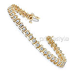 Tennis Bracelet � 14KT Yellow Gold, 2.00CT Round Cut Diamonds Bracelet