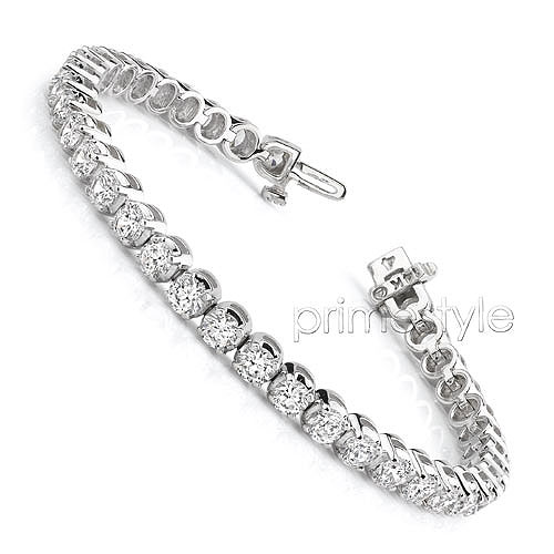 14KT White Gold 3.50CT Diamonds (SI1-SI2 Clarity) Tennis Bracelet