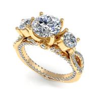2.15CT round  cut diamonds engagement ring