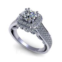 1.45CT round  cut diamonds engagement ring