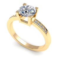 0.45CT round  cut diamonds engagement ring