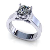 0.35CT princess  cut diamonds solitaire ring