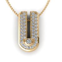 0.23CT round  cut diamonds diamond pendants