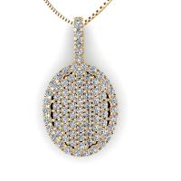 0.45CT round  cut diamonds diamond pendants